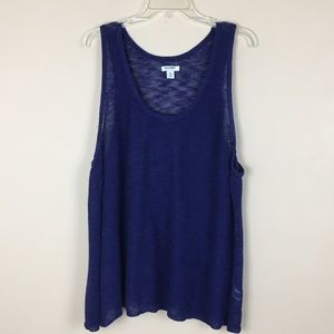Old Navy Open Knit Tank - Navy